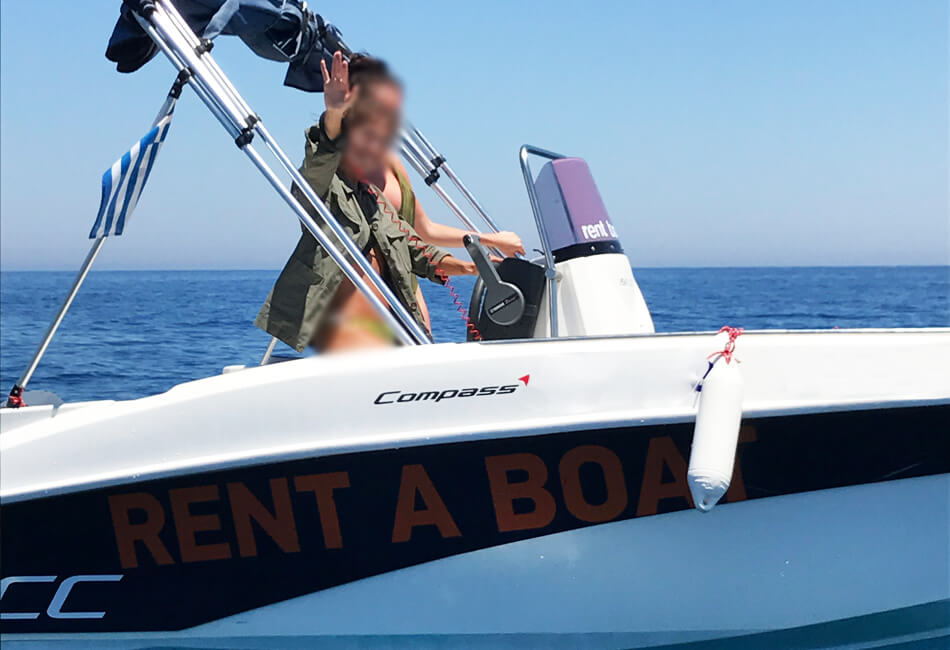 14.9 ft Compass 150cc Blue Powerboat